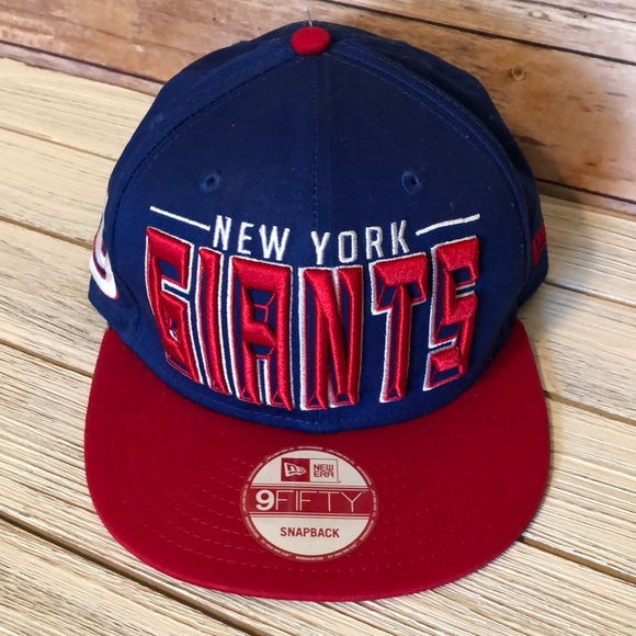 6bc8a562d 9Fifty Accessories | New New York Giants Snapback Hat Flat Bill ...